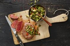 Steak Fillet with Fennel Chimichurri