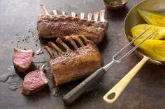 Rack of lamb with saffron fennel