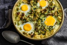 Leek bake with eggs