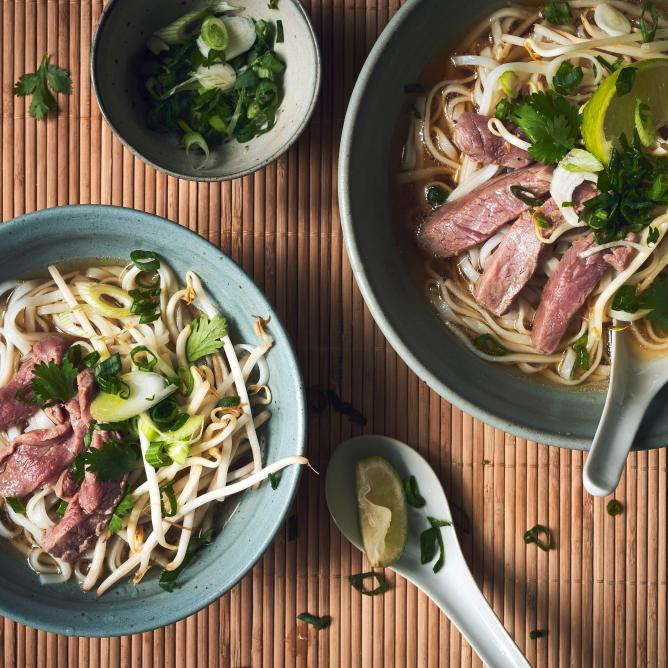 Pho Bo beef and noodle soup