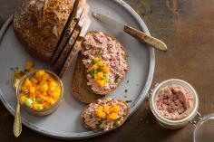 Duck Terrine with Apricot Squash Chutney