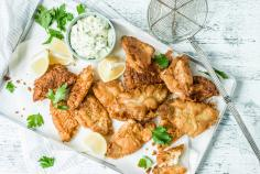 Perch Nuggets with Curried Tartar Sauce
