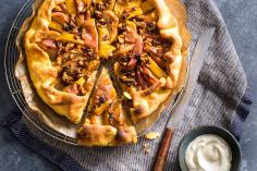 Apple & pear tart