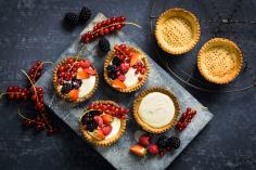 Almond Tarts with Berries