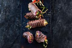 Beef Rolls with Sesame Marinade