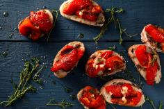 Bruschetta with peppers