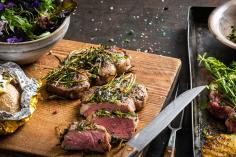 Beefsteak with Herb Marinade