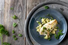 Pike Perch with Herb Millet