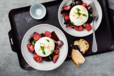 Burrata with fig & carrot pickles