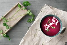 Beetroot & lentil soup