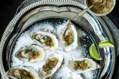 Oysters with date vinaigrette
