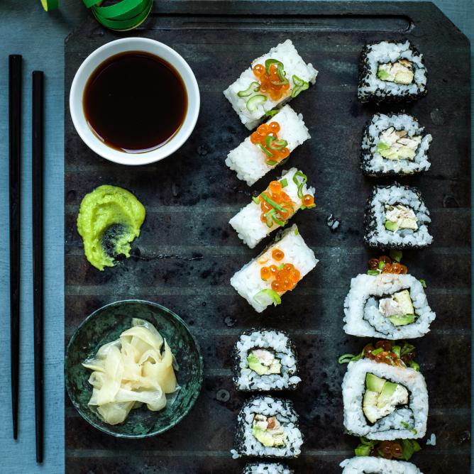 Uramaki – inside-out rolls