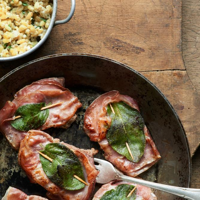 Saltimbocca with Creamy Durum Wheat