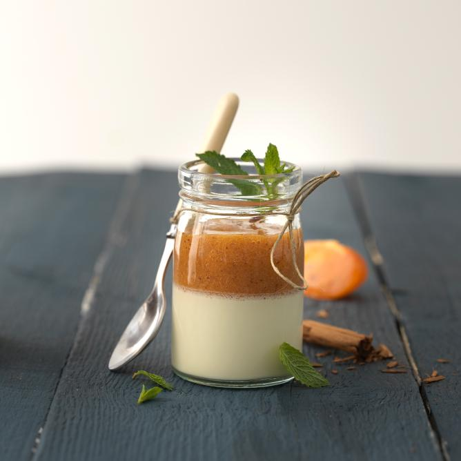 Cinnamon Panna Cotta with Persimmon
