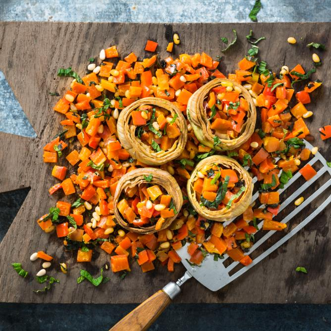Artichokes with peperonata