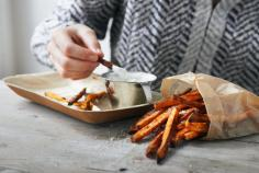 Sweet Potato Wedges with Herb Dip