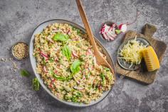 Spinach Herb Barley Risotto