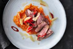 Five-spice duck breasts with chilli oil