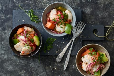 Ceviche with scallops