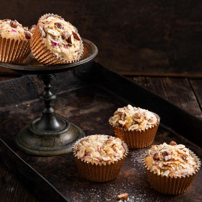 Chocolate & rhubarb muffins