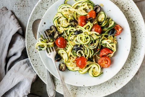 Zoodles all'arrabbiata