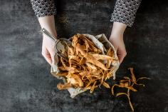 Parsnip crisps with dukkah