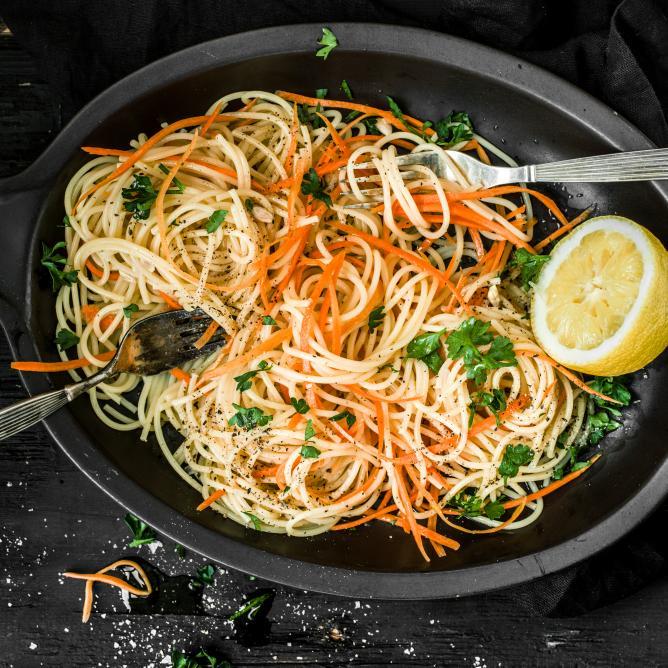 Spaghettis aux carottes