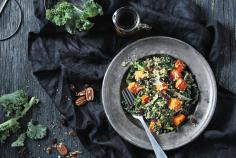 Kale and quinoa with roasted squash