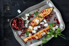 Oven Baked Feta Sweet Potatoes