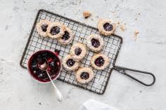 Blackberry bird's nest cookies