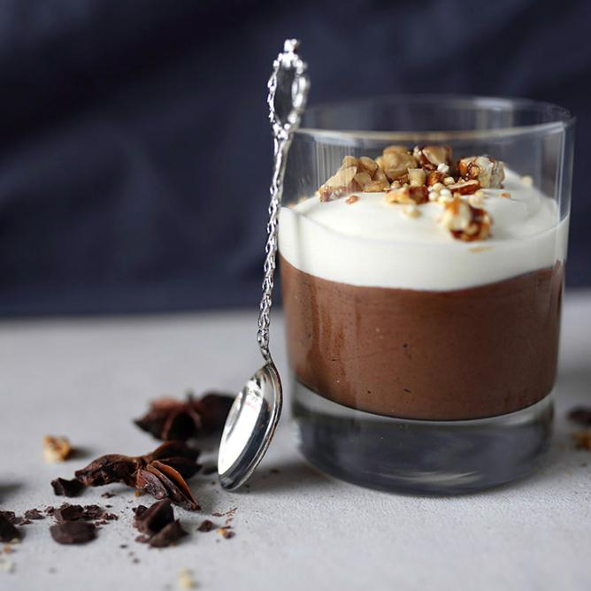 Chickpea & chocolate mousse