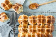 Triple Chocolate Hot Cross Buns