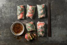 Summer rolls with tuna
