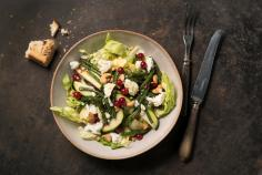 Green bean & courgette salad with feta