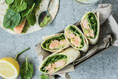 Salmon Avocado Wrap