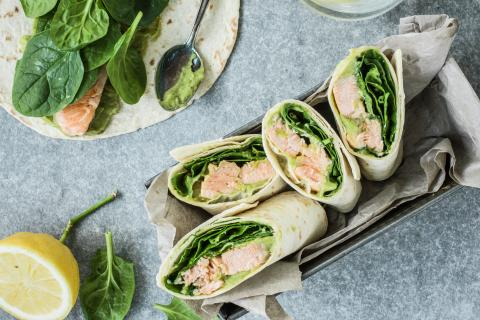 Lachs-Avocado-Wrap