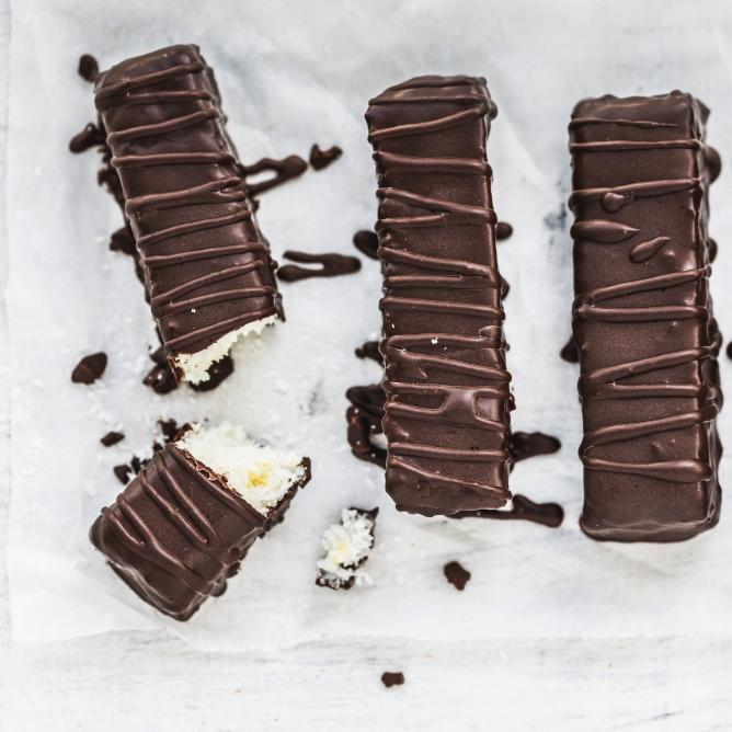 Coconut and chocolate bars