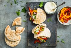 Veal-stuffed pitas