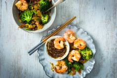 Ginger & prawn stir fry