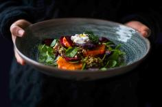 Buckwheat & beetroot salad with goat's cheese