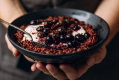Chocolate Blueberry Porridge