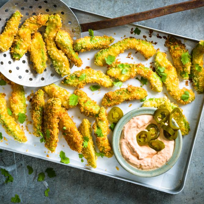 Avocado chilli fries