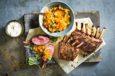 Oriental rack of lamb with dukkah
