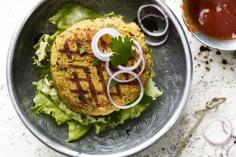 Falafel burgers with mango