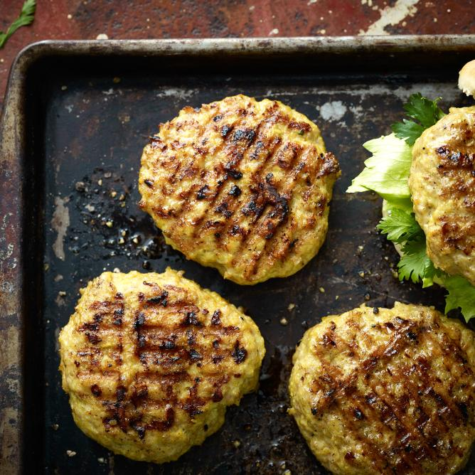 Poulet-Curry-Burger-Patties