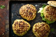 Curried chicken burgers