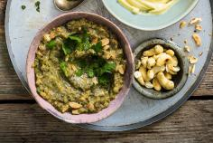 Baba ganoush with cashew nuts