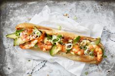 Hot Sea Dog mit Crevetten