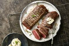 Lamb with whisky & rosemary butter