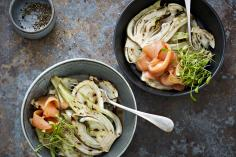 Irish Smoked Salmon with Grilled Fennel